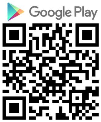 QR code Google Playstore logo